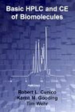 """Basic HPLC and CE of Biomolecules"" by Robert L. Cunico, Karen M. Gooding & Tim Wehr (1998) ISBN 0-9663229-0-8.  Paperback. - Product Image"